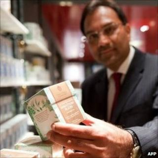Sanjiv Mehta at the store of the East India Company in London