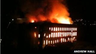 Ebor Mills fire
