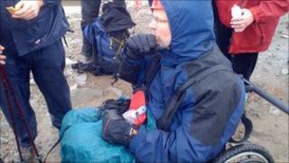 Martin Williams at Snowdon summit