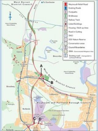 Weymouth road map