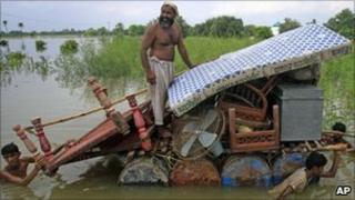 Flood victims in Pakistan
