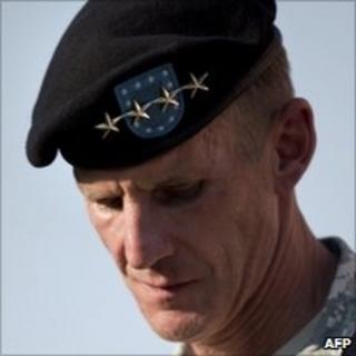 General Stanley McChrystal, July 23 2010, in Washington