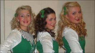 Irish dancers from Ardoyne