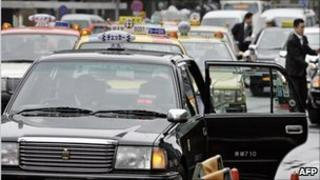 File image of taxis in Tokyo