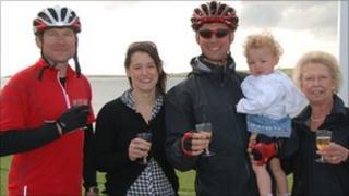 David Bowering and family at John O-Groats