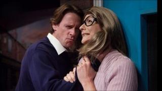 Katherine Dow Blyton as Dierdre Barlow and Simon Chadwick as Ken Barlow