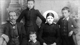 Bridget Driscoll, circled, in a family photograph