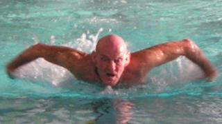 Baz Owen in action in the pool