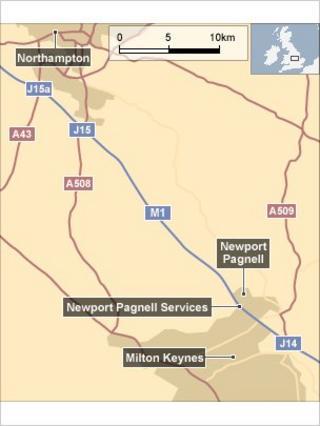 Map of crash site