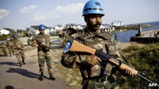 Indian peacekeeping troops in DR Congo (File picture)