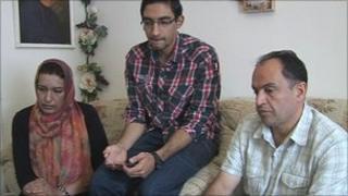 Mohammed Vahidi (right) and his family