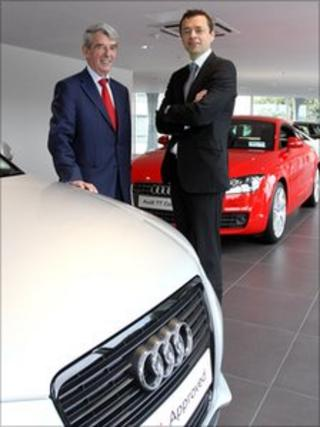 Charles Hurst chairman Ken Surgenor and Audi Ireland managing director Fintan Knight.