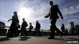 Men and women walking