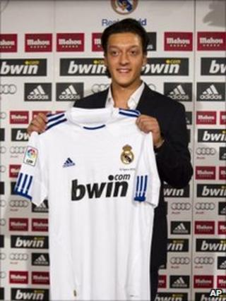 New Real Madrid player Mesut Ozil