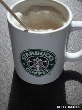 Mug of Starbucks coffee