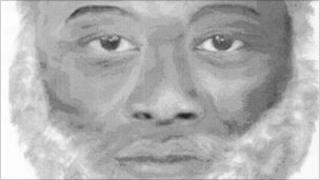 Sketch of man found dead from hypothermia at Southend in 2000.
