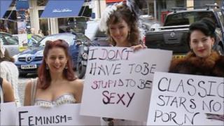 burlesque protest