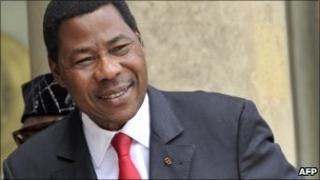 Beninois President Boni Yayi