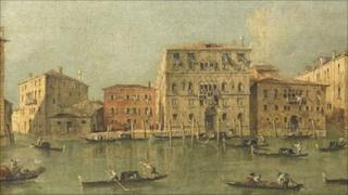 Francesco Guardi's View of the Palazzo Loredan dell'Ambasciatore on the Grand Canal, Venice