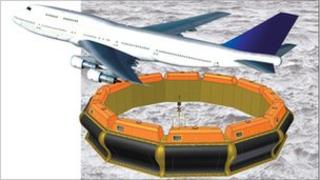 AWS illustration of the new device and a Jumbo jet