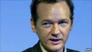 Julian Assange in Stockholm, 14 August 2010