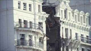 Grand Hotel in Brighton bombed by the IRA in 1984