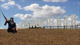Bosworth anniversary sign