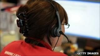 Ucas help line worker