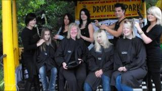 Drusillas' visitors receive a haircut