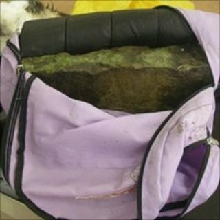 Rucksack containing bricks