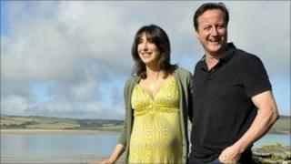 David and Samantha on holiday