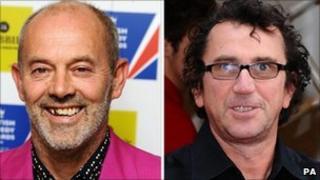 Keith Allen (left) and Phil Daniels