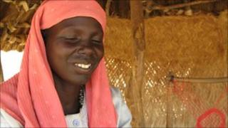 Woman who has returned to south Sudan from the north