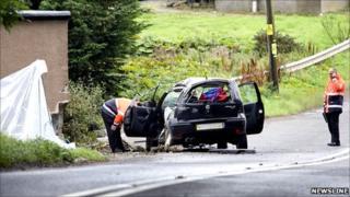 A937 fatal scene [Pic: Newsline Scotland]