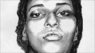 A sketch of Fatima Kama released by the police