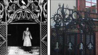 The gates at the Sailors Home and at the Soho Foundry