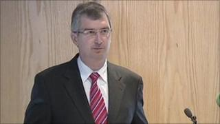 Tom Elliott was speaking at the launch of his leadership campaign
