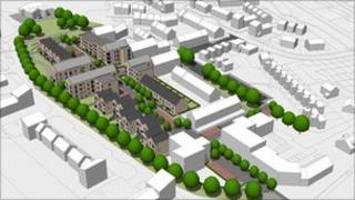 Artist's impression of the new houses