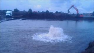 Burst water main in Warrington
