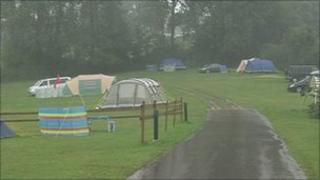 Soggy campsite