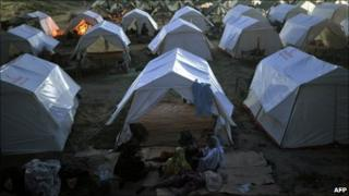 Arelief camp in Sultan Colony in Muzaffargarh district of Punjab, Pakistan on 25 August, 2010
