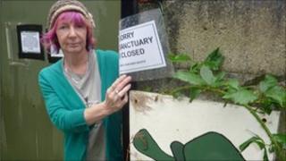 Joy Bloor at the Tortoise Garden