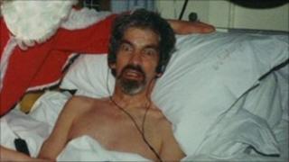 Graham Miles in hospital