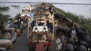 South Pakistan floods displace a million in 48 hours