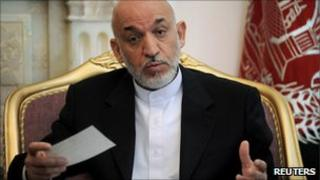 Afghan President Hamid Karzai (20 August 2010)