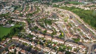 Aerial view of Bristol