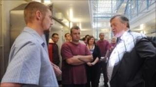 Ken Clarke visiting Leeds Prison