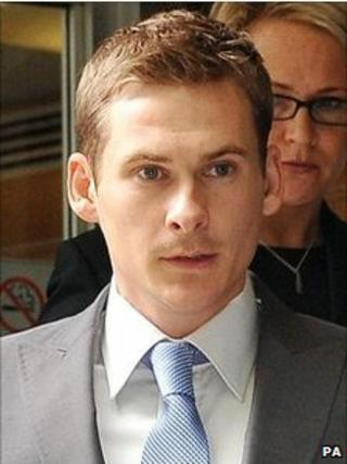 Lee Ryan leaving court