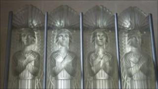 "Interior of St Matthew's ""Glass Church"""