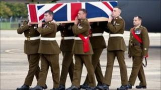The repatriation of L/Cpl Jordan Bancroft